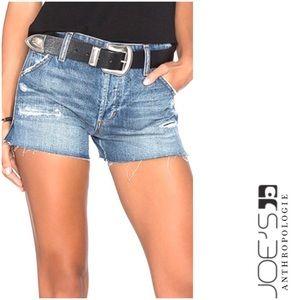 JOE'S JEANS Raw Hem Distressed Jean Shorts Size 24